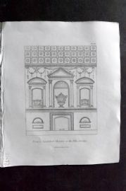 Henry Moses 1840's Antique Print. Sepulchral Chamber in the Villa Corsina